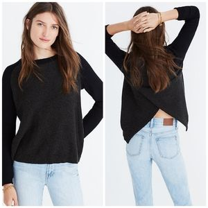 Madewell Province Cross Back Pullover Sweater Sz S